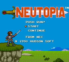 Neutopia title screenshot