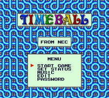 Timeball title screenshot