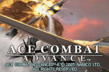 Ace Combat Advance title screenshot