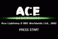Ace Lightning title screenshot
