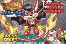 Aero the Acro-Bat - Rascal Rival Revenge title screenshot