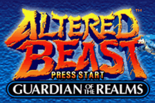 Altered Beast - Guardian of the Realms title screenshot