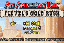 An American Tail - Fievel's Gold Rush title screenshot