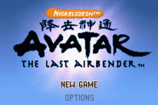 Avatar - The Last Airbender title screenshot