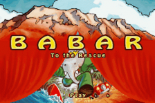 Babar to the Rescue title screenshot