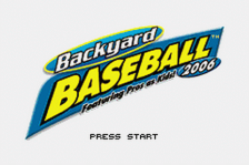 Backyard Baseball 2006 title screenshot