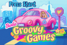 Barbie Groovy Games title screenshot