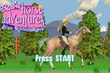Barbie Horse Adventures - Blue Ribbon Race title screenshot