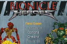 Bionicle Heroes title screenshot