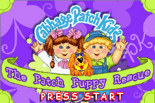 Cabbage Patch Kids - The Patch Puppy Rescue title screenshot