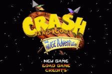 Crash Bandicoot - The Huge Adventure title screenshot