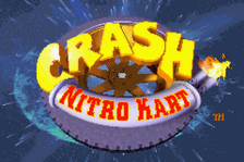 Crash Nitro Kart title screenshot