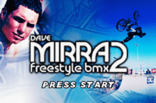 Dave Mirra Freestyle BMX 2 title screenshot