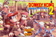 Donkey Kong Country 2 title screenshot