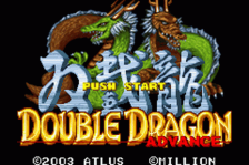 Double Dragon Advance title screenshot