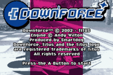 Downforce title screenshot
