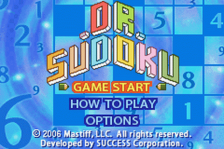 Dr. Sudoku title screenshot