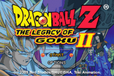 Dragon Ball Z - The Legacy of Goku II title screenshot