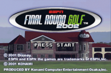 ESPN Final Round Golf 2002 title screenshot