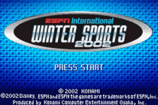 ESPN International Winter Sports 2002 title screenshot