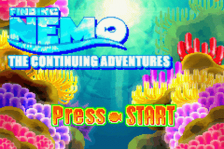 Finding Nemo - The Continuing Adventures title screenshot