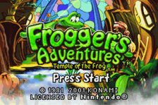 Frogger's Adventures - Temple of the Frog title screenshot