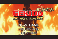 Gekido Advance - Kintaro's Revenge title screenshot