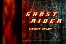 Ghost Rider title screenshot