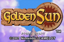 Golden Sun title screenshot