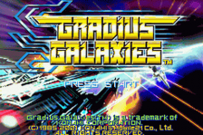 Gradius Galaxies title screenshot