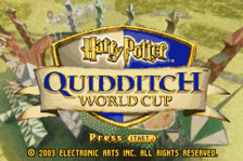 Harry Potter - Quidditch World Cup title screenshot