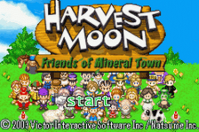 Harvest Moon - Friends of Mineral Town title screenshot