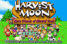 Harvest Moon - More Friends of Mineral Town title screenshot