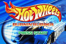 Hot Wheels - Burnin' Rubber title screenshot