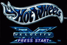 Hot Wheels - Velocity X title screenshot