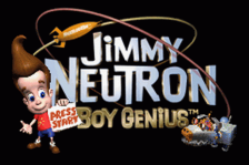 Jimmy Neutron Boy Genius title screenshot