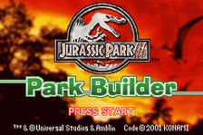 Jurassic Park III - Park Builder title screenshot