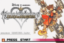 Kingdom Hearts - Chain of Memories title screenshot