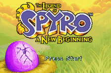 Legend of Spyro, The - A New Beginning title screenshot