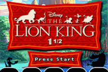 Lion King 1 1-2, The title screenshot