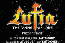 Lufia - The Ruins of Lore title screenshot