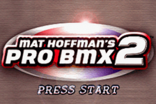 Mat Hoffman's Pro BMX 2 title screenshot
