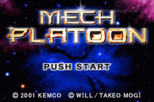 Mech Platoon title screenshot