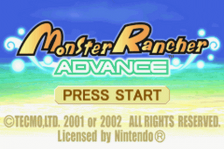 Monster Rancher Advance title screenshot