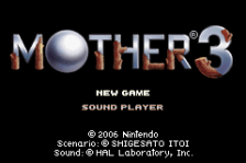 Mother 3 title screenshot