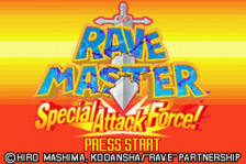 Rave Master - Special Attack Force! title screenshot