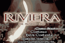 Riviera - The Promised Land title screenshot