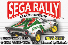 Sega Rally Championship title screenshot