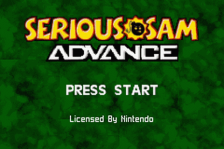 Serious Sam Advance title screenshot