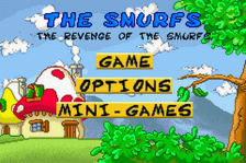 Smurfs, The - The Revenge of the Smurfs title screenshot